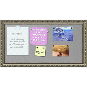 Parisian Silver, 27 x 15 In. Framed Magnetic Board
