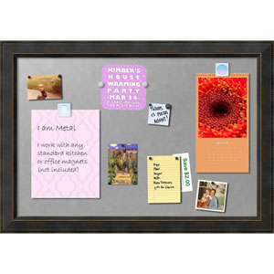 Signore Bronze, 41 x 29 In. Framed Magnetic Board