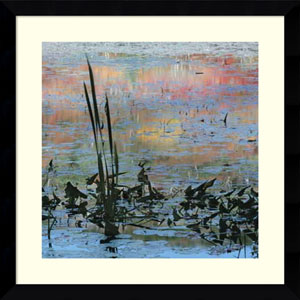 Reeds In Blue by Charleen Baugh, 33 x 33 In. Framed Art Print