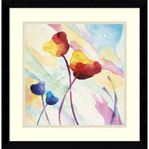 Tilt Tulips II by Deborah Lamotte, 17 x 17 In. Framed Art Print