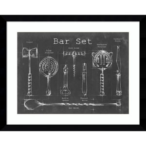 Bar Set by Ethan Harper, 39 x 31 In. Framed Art Print