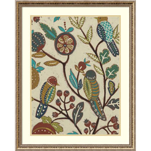 Berry Branch II (Bird) by Chariklia Zarris, 24 x 30 In. Framed Art Print