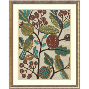 Berry Branch I (Bird) by Chariklia Zarris, 24 x 30 In. Framed Art Print