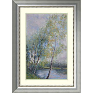 Poetry on Riverbank by Clement Nivert, 25 x 34 In. Framed Art Print