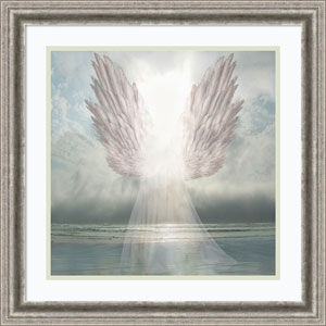 I Am Guided (Angel) by David M (Maclean), 23 x 23 In. Framed Art Print