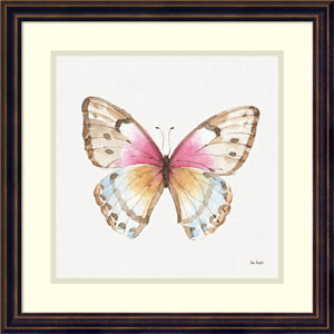 Colorful Breeze XI (Butterfly) by Lisa Audit, 18 x 18 In. Framed Art Print