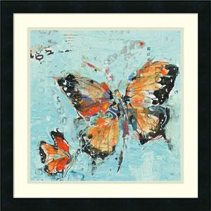 Monarch II Light Blue by Kellie Day, 22 x 22 In. Framed Art Print