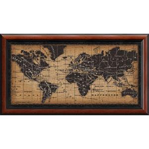 Old World Map by Pela Studio, 44 x 24 In. Framed Art Print
