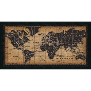 Old World Map by Pela Studio, 42 x 22 In. Framed Art Print