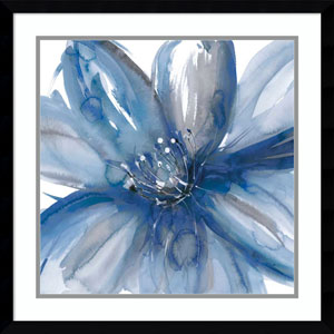 Blue Beauty I (Floral) by Rebecca Meyers, 23 x 23 In. Framed Art Print