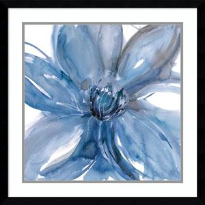 Blue Beauty II (Floral) by Rebecca Meyers, 23 x 23 In. Framed Art Print