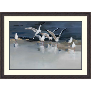 Serenity (Gulls) by Angela Maritz, 45 x 33 In. Framed Art Print