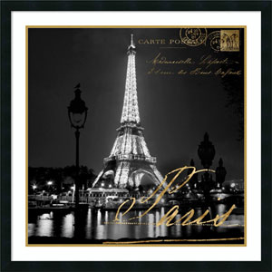 Paris At Night by Kate Carrigan, 34 x 34 In. Framed Art Print