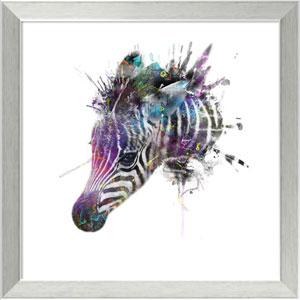 Zebra by Veebee, 18 x 18 In. Framed Art Print