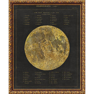 Astronomical Chart I (Moon) by Wild Apple Portfolio, 20 x 25 In. Framed Art Print