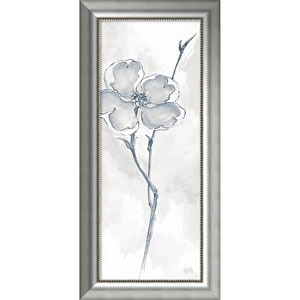 Solitary Dogwood II Gray (Floral) by Chris Paschke, 19 x 40 In. Framed Art Print