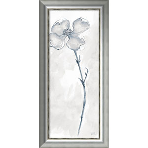 Solitary Dogwood III Gray (Floral) by Chris Paschke, 19 x 40 In. Framed Art Print