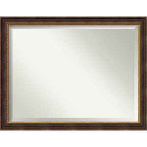Veneto Distressed Black 45 x 35 In. Bathroom Mirror