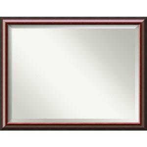 Cambridge Mahogany 44 x 34 In. Wall Mirror