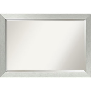 Brushed Sterling Silver 40 x 28 In. Wall Mirror