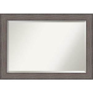 Country Barnwood 41.5 x 29.5 In. Wall Mirror