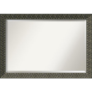 Intaglio Embossed Black 40 x 28 In. Wall Mirror