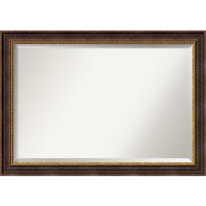 Veneto Distressed Black 41 x 29 In. Bathroom Mirror