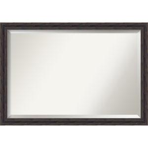 Narrow Rustic Pine 39 x 27 In. Bathroom Mirror