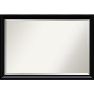 Steinway Black Scoop 39 x 27 In. Bathroom Mirror
