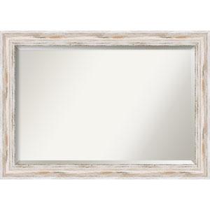 Alexandria White Wash 41 x 29 In. Bathroom Mirror