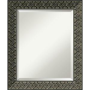 Intaglio Embossed Black 20 x 24 In. Bathroom Mirror