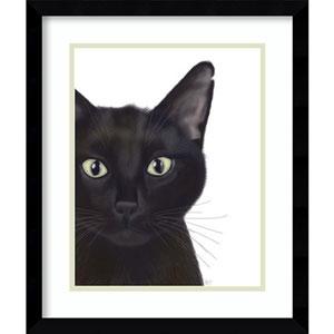Cat, Portrait of Gus by Fab Funky, 16 In. x 19 In. Framed Art