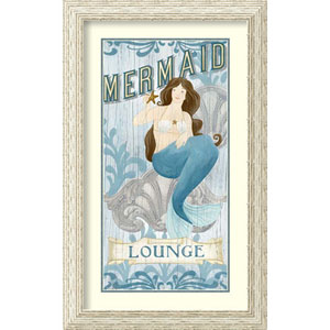 Mermaid I by June Vess, 20 In. x 32 In. Framed Art