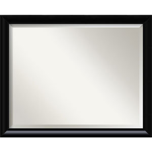 Steinway Black Scoop 25 x 31 In. Wall Mirror