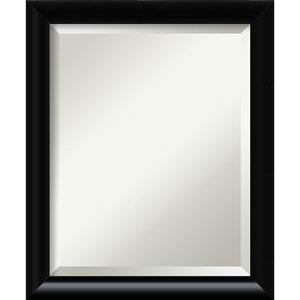 Steinway Black Scoop 23 x 19 In. Bathroom Mirror