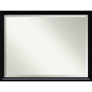 Steinway Black Scoop 33 x 43 In. Wall Mirror