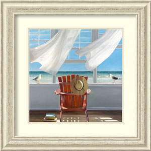 Lookout by Karen Hollingsworth, 26 In. x 26 In. Framed Art