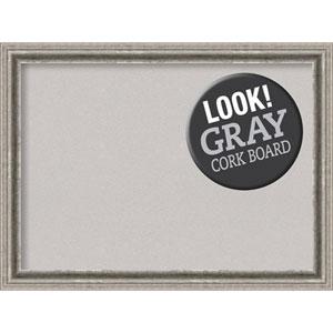 Bel Volto Silver, 31 In. x 23 In. Grey Cork Board