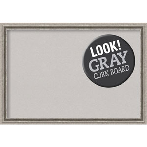 Bel Volto Silver, 39 In. x 27 In. Grey Cork Board