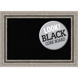 Bel Volto Silver, 21 In. x 15 In. Black Cork Board