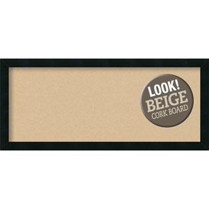 Mezzanotte Black, 32 In. x 14 In. Beige Cork Board