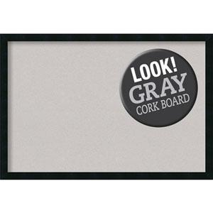 Mezzanotte Black, 38 In. x 26 In. Grey Cork Board