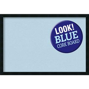 Mezzanotte Black, 38 In. x 26 In. Blue Cork Board