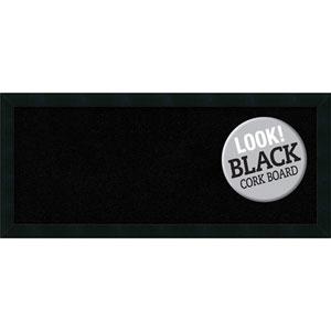 Mezzanotte Black, 32 In. x 14 In. Black Cork Board