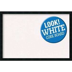 Mezzanotte Black, 38 In. x 26 In. White Cork Board