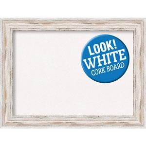 Alexandria White Wash, 33 In. x 25 In. White Cork Board