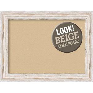Alexandria White Wash, 33 In. x 25 In. Beige Cork Board