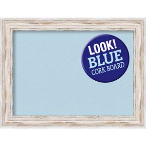 Alexandria White Wash, 33 In. x 25 In. Blue Cork Board