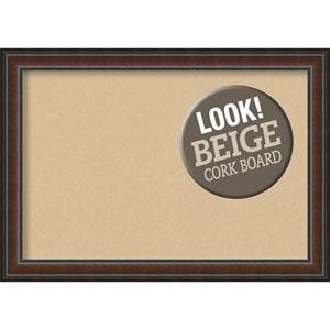 Cyprus Walnut, 41 In. x 29 In. Beige Cork Board