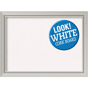 Romano Silver, 32 In. x 24 In. White Cork Board